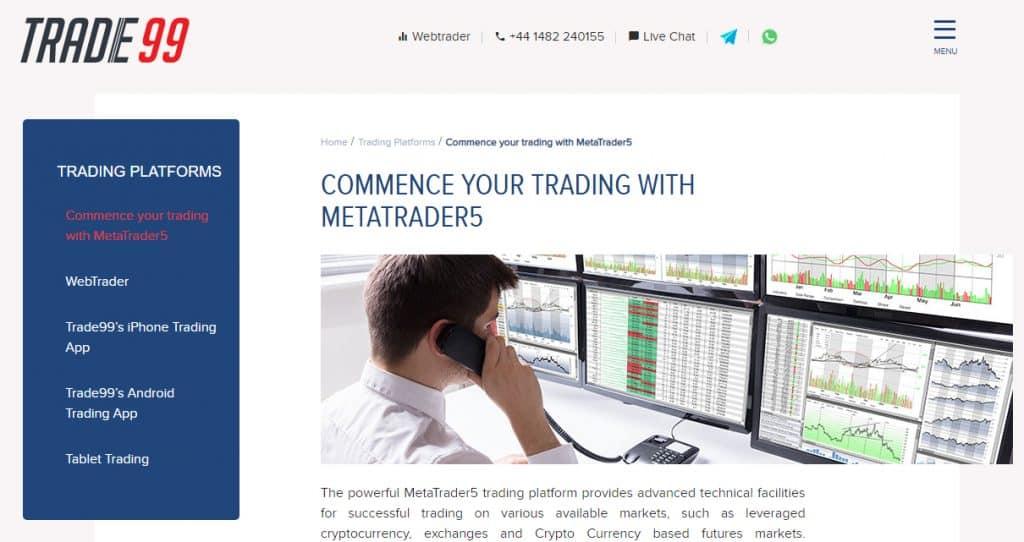 Trade99's Trading Platform